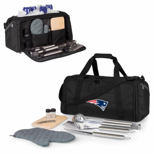New England Patriots - BBQ Kit Grill Set & Cooler Perspective: back