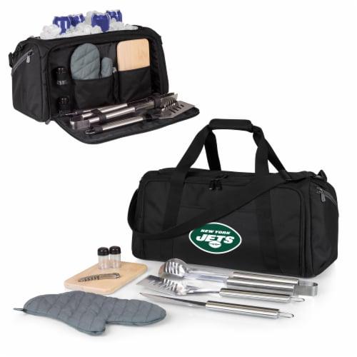 New York Jets - BBQ Kit Grill Set & Cooler Perspective: back