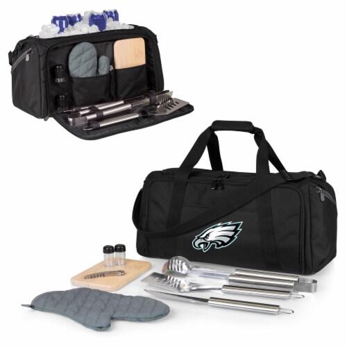 Philadelphia Eagles - BBQ Kit Grill Set & Cooler Perspective: back