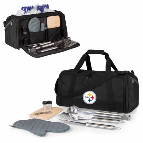 Pittsburgh Steelers - BBQ Kit Grill Set & Cooler Perspective: back