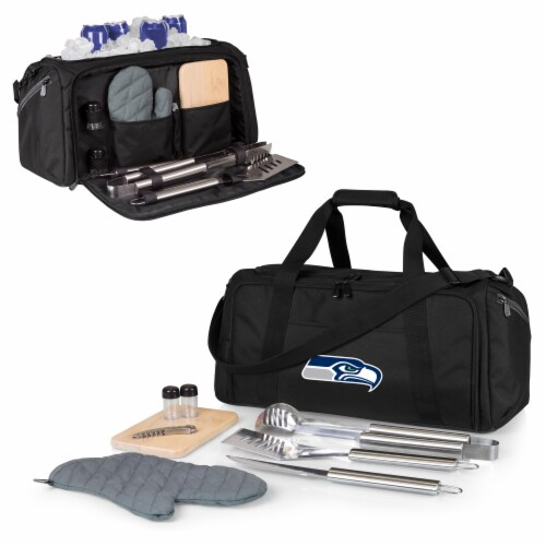 Seattle Seahawks - BBQ Kit Grill Set & Cooler Perspective: back
