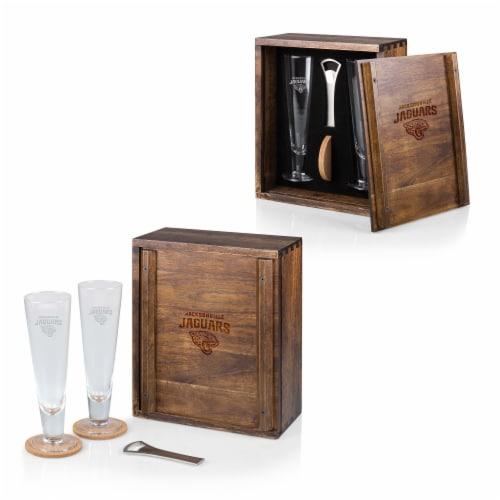 Jacksonville Jaguars - Pilsner Beer Glass Gift Set Perspective: back