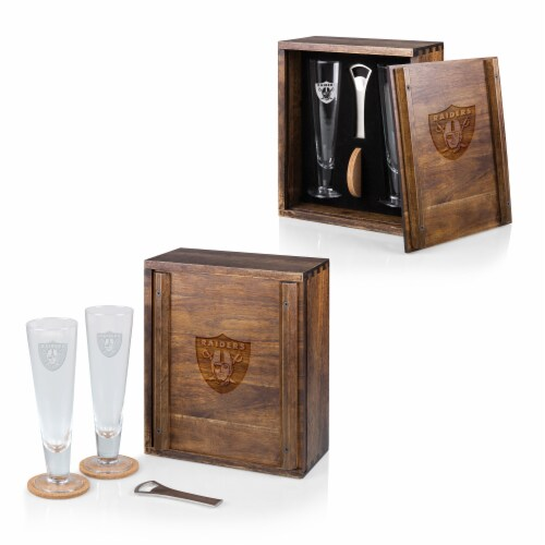Las Vegas Raiders - Pilsner Beer Glass Gift Set Perspective: back