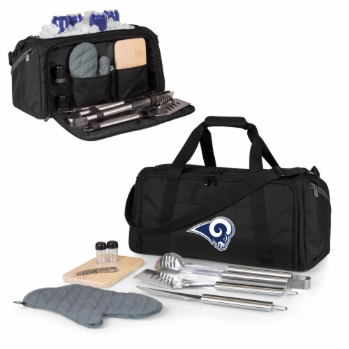 Los Angeles Rams - BBQ Kit Grill Set & Cooler Perspective: back
