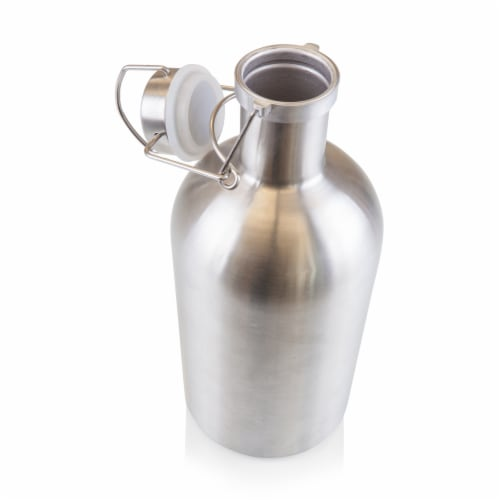 Stainless Steel 64 oz. Growler, Silver Perspective: back