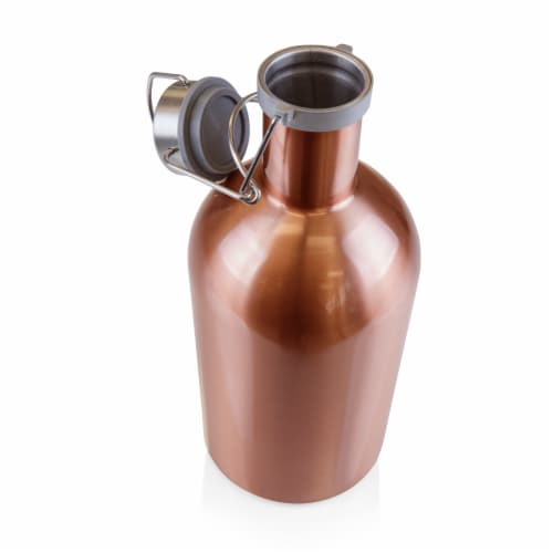 Stainless Steel 64 oz. Growler, Copper Perspective: back