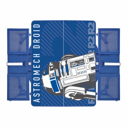 Star Wars R2-D2 - Picnic Table Portable Folding Table with Seats, Royal Blue Perspective: back