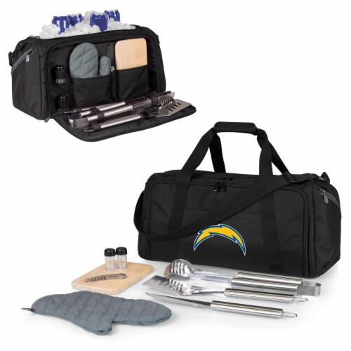 Los Angeles Chargers - BBQ Kit Grill Set & Cooler Perspective: back