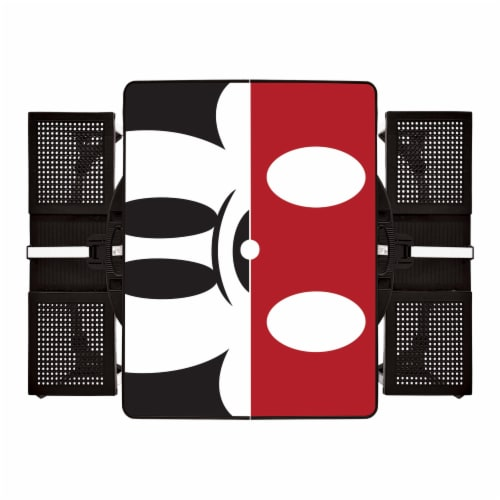Disney Mickey Mouse - Picnic Table Portable Folding Table with Seats, Black Perspective: back