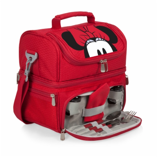 Disney Minnie Mouse - Pranzo Lunch Cooler Bag, Red Perspective: back