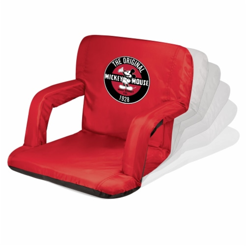 Disney Mickey Mouse - Ventura Portable Reclining Stadium Seat, Red Perspective: back