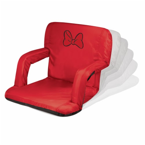 Disney Minnie Mouse - Ventura Portable Reclining Stadium Seat, Red Perspective: back