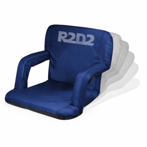 Star Wars R2-D2 - Ventura Portable Reclining Stadium Seat, Navy Blue Perspective: back