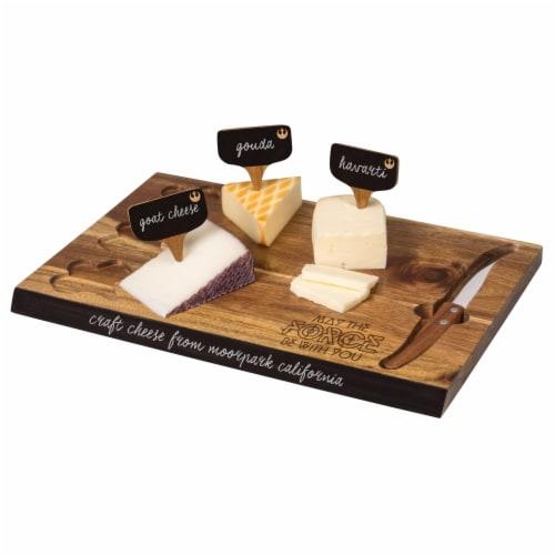 Star Wars Rebel Alliance - Delio Acacia Cheese Cutting Board & Tools Set, Acacia Wood Perspective: back
