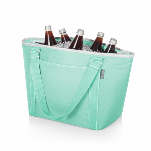 Topanga Cooler Tote Bag, Teal Perspective: back