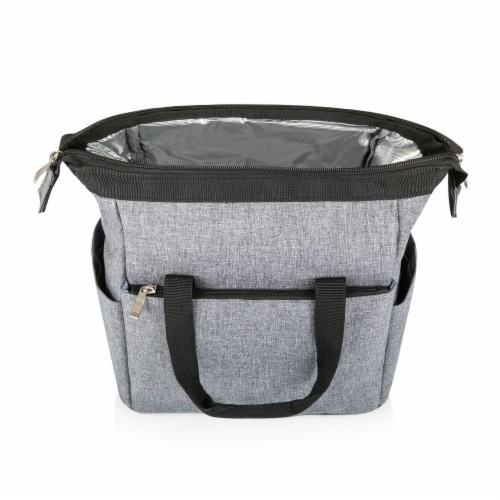 On The Go Lunch Cooler, Heathered Gray Perspective: back