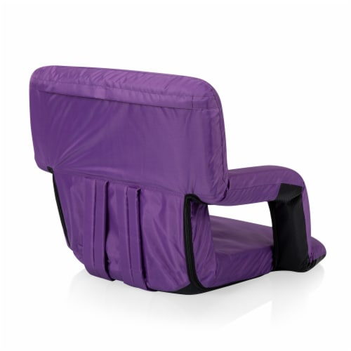 Ventura Portable Reclining Stadium Seat, Purple Perspective: back