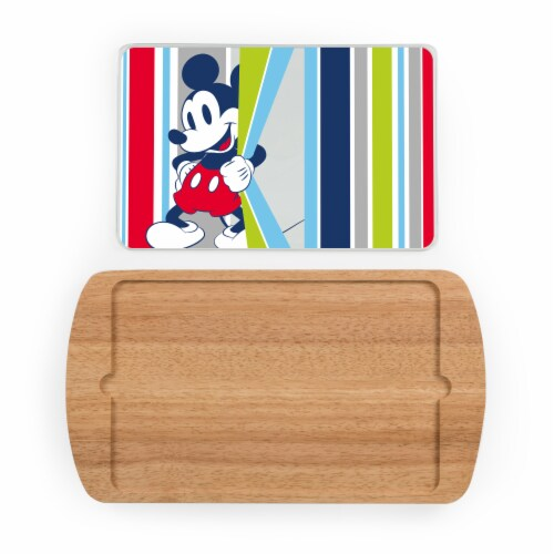 Disney Mickey Mouse - Billboard Glass Top Serving Tray, Rubberwood Perspective: back