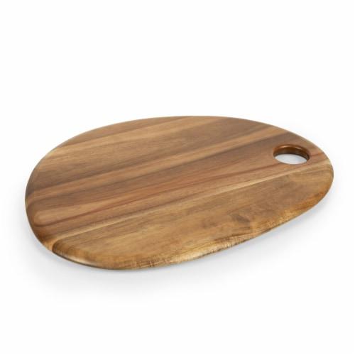 """Pebble Shaped Acacia Serving Board 18"""" x 15"""", Natural Acacia Perspective: back"""