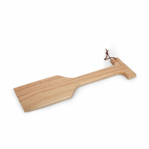 New England Patriots - Hardwood BBQ Grill Scraper with Bottle Opener Perspective: back