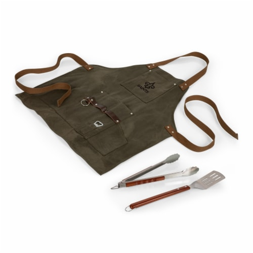 New Orleans Saints - BBQ Apron with Tools & Bottle Opener Perspective: back