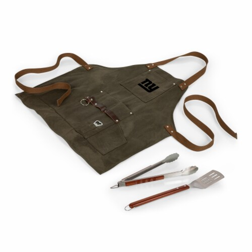 New York Giants - BBQ Apron with Tools & Bottle Opener Perspective: back