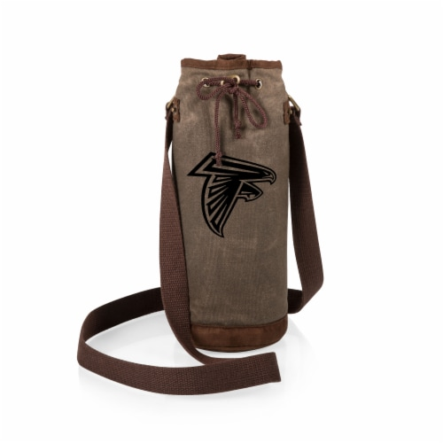 Atlanta Falcons - Waxed Canvas Wine Tote Perspective: back