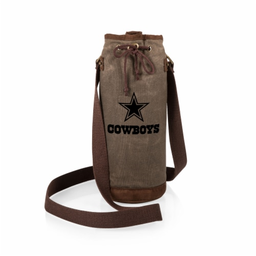 Dallas Cowboys - Waxed Canvas Wine Tote Perspective: back
