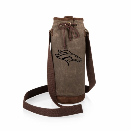 Denver Broncos - Waxed Canvas Wine Tote Perspective: back
