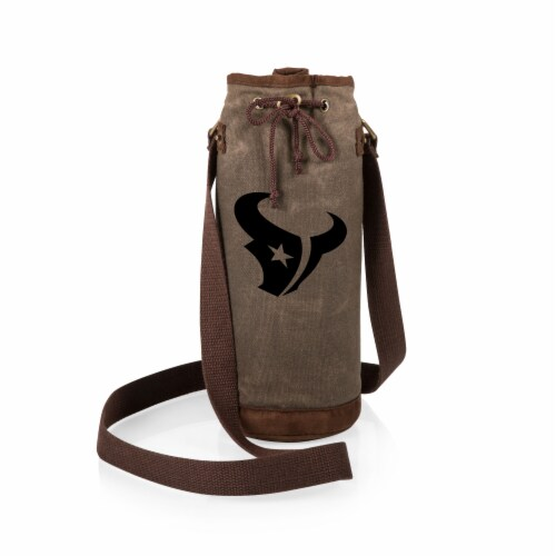 Houston Texans - Waxed Canvas Wine Tote Perspective: back