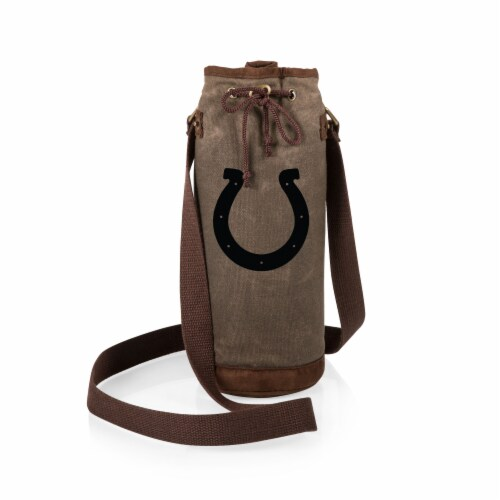Indianapolis Colts - Waxed Canvas Wine Tote Perspective: back