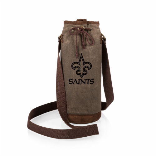 New Orleans Saints - Waxed Canvas Wine Tote Perspective: back