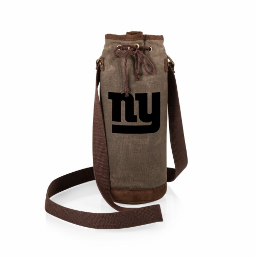 New York Giants - Waxed Canvas Wine Tote Perspective: back