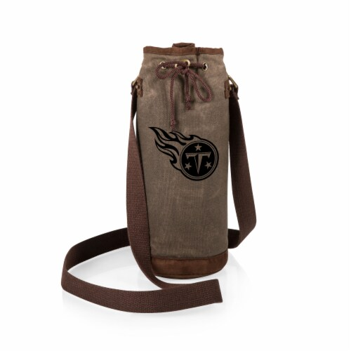 Tennessee Titans - Waxed Canvas Wine Tote Perspective: back