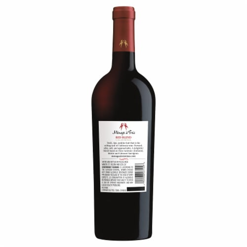 Menage a Trois California Red Table Wine Perspective: back