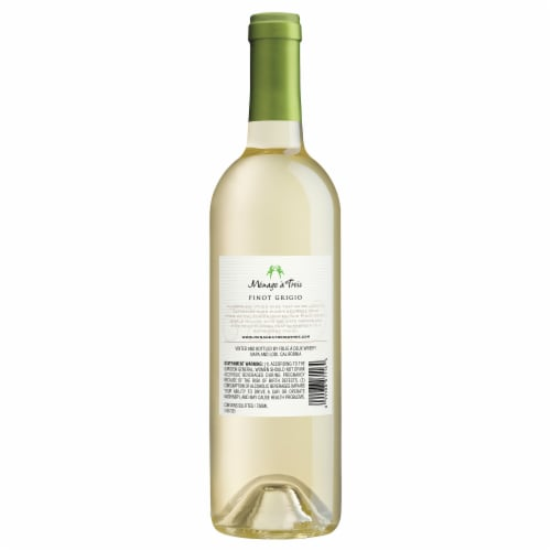 Menage a Trois Pinot Grigio Perspective: back