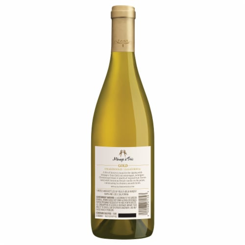 Menage a Trois Gold Chardonnay White Wine Perspective: back