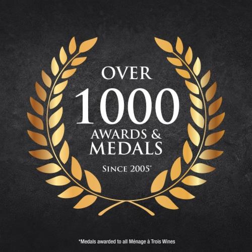Menage a Trois Lavish Merlot Red Wine Perspective: back