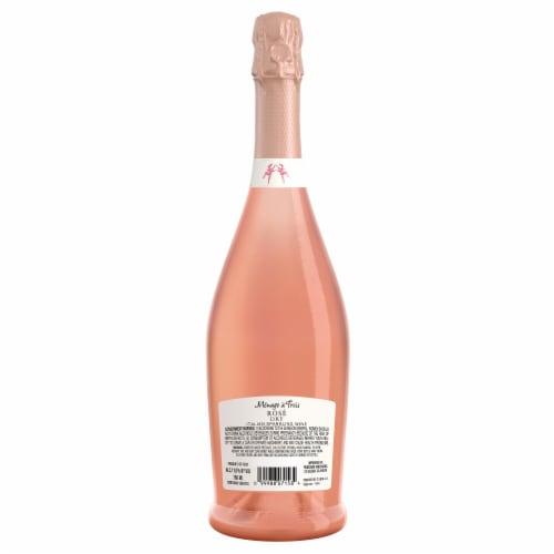 Menage a Trois Rose Sparkling Wine Perspective: back
