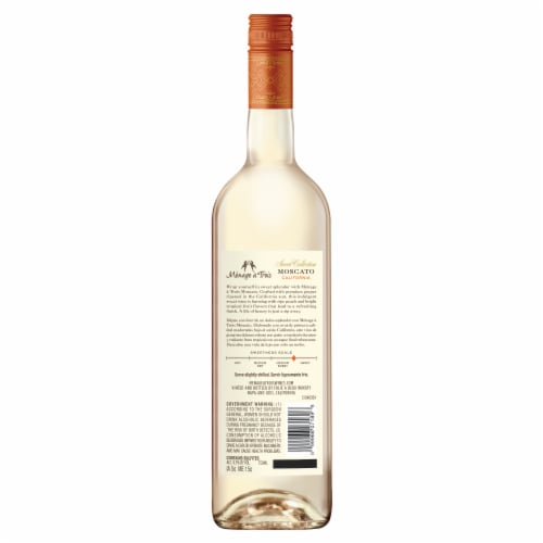 Menage a Trois Sweet Moscato White Wine Perspective: back