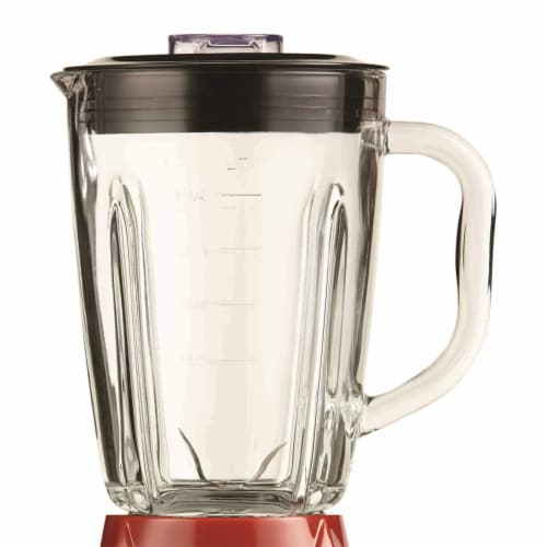 Brentwood JB-920R 12 Speed and Pulse Electric Kitchen Blender w/ Glass Jar, Red Perspective: back