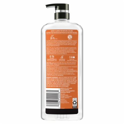 Herbal Essences Bio:Renew White Grapefruit & Mosa Mint Naked Volume Shampoo Perspective: back