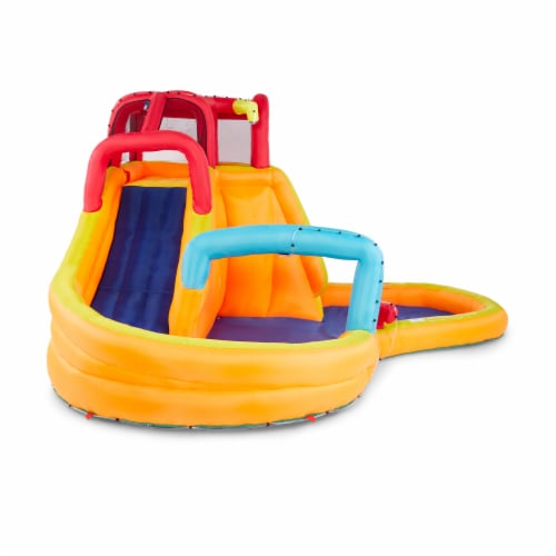 Banzai Kids Inflatable Outdoor Lazy River Adventure Water Park Slide and Pool Perspective: back