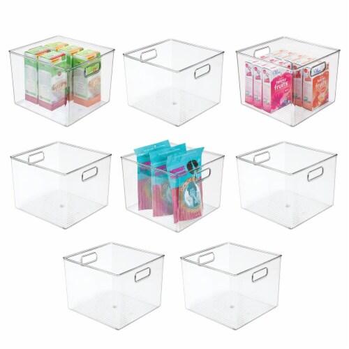 mDesign Plastic Kitchen Food Storage Organizer Bin - 8 Pack Perspective: back