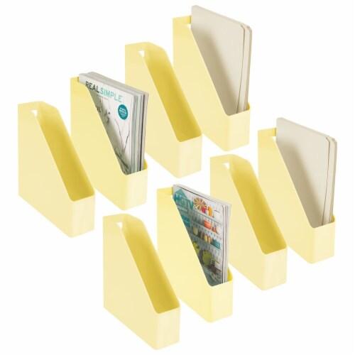 mDesign Plastic File Folder Bin, Office Desktop Organizer, 8 Pack Perspective: back