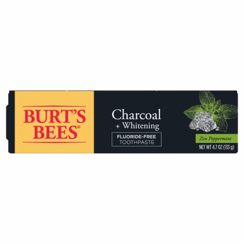 Burt's Bees® Zen Peppermint Charcoal + Whitening Fluoride-Free Natural Toothpaste Perspective: back