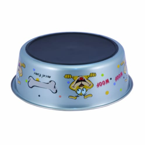 Saltoro Sherpi Multi Print Stainless Steel Dog Bowl By Boomer N Chaser (Set of 12) Perspective: back