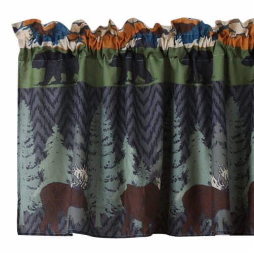Saltoro Sherpi Polyester Valance with Nature Inspired Print, Multicolor Perspective: back