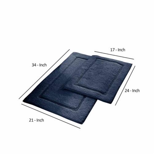 Saltoro Sherpi Nantes 2 Piece Fabric Bath Mat with Non Slippery Back The Urban Port, Dark Perspective: back