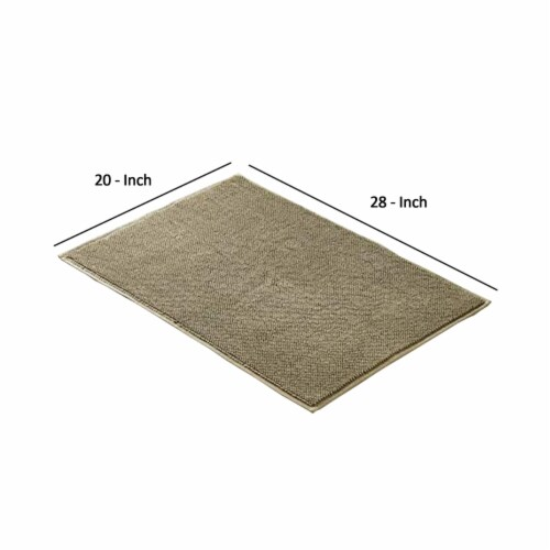 Saltoro Sherpi Salzburg Fabric Reversible Bath Rug with Quick Drying Loops The Urban Port, Perspective: back
